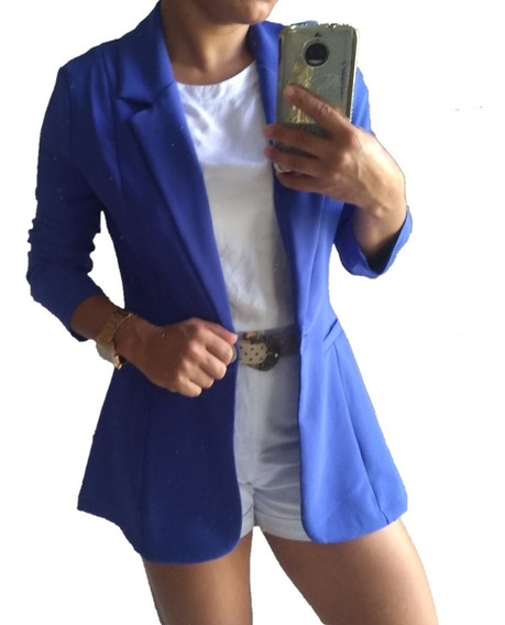 Blazer Max Alfaiataria Feminino Acinturado S/ Forro: Oferta