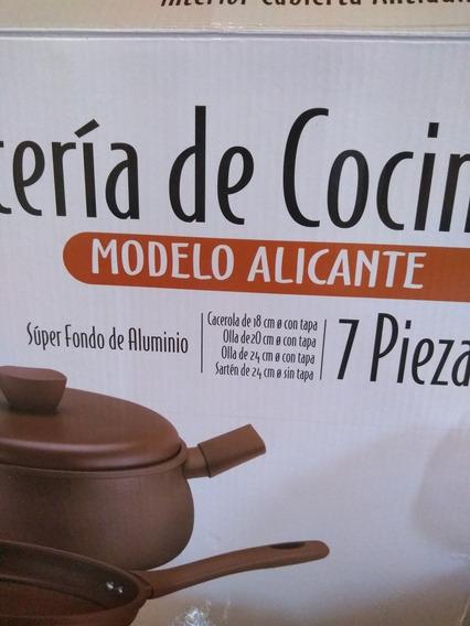 Juego De Ollas D&c Estilo Alicante 7 Piezas Símil Greda