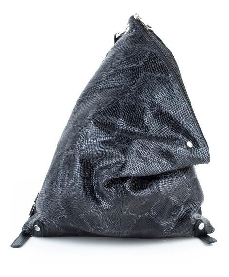 Mochila Triangular Mujer Xl Extra Large Bernarda Negro