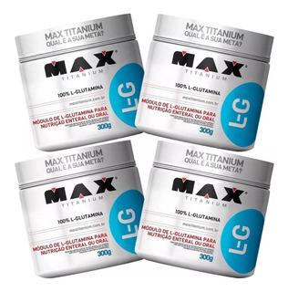 Combo 4 Glutamina 300g Max Titanium