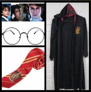 Set De Harry Potter - Tunica, Lentes Y Corbata - Gryffindor