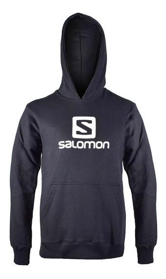 Buzo Salomon Logo Hoodie Hombre Negro