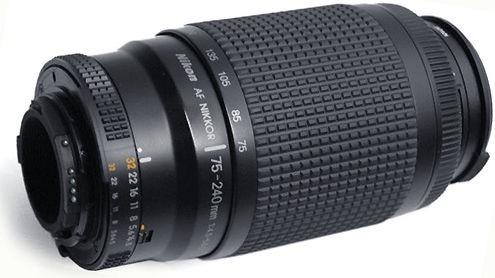 Lente Nikon Zoom Af 75-240mm F:4.5-5.6 D