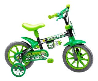 Bicicleta Infantil Aro 12 Black 12 Nathor 2 A 5 Anos