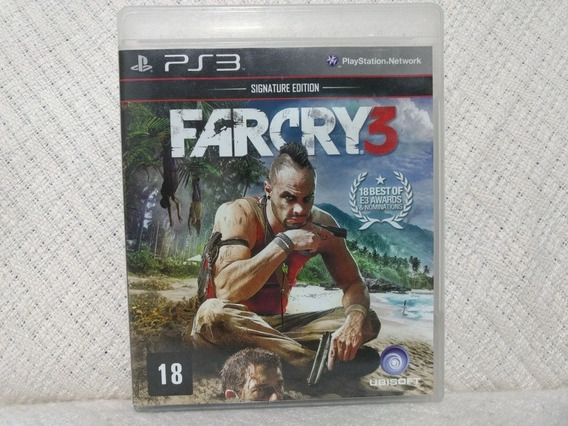 Jogo Ps3 Far Cry 3 Signature Edition Mídia Física Original