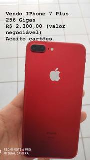 iPhone 7 Red Plus 256 Gigas