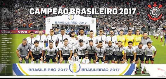 Poster Corinthians Timão Campeão Brasileiro 2017