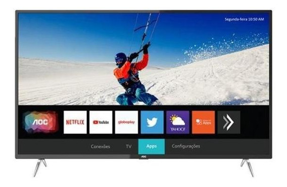 Smart Tv Led 4k Aoc 50u6295/78g 50 , Uhd, 4 Hdmi, Usb, Wi-fi