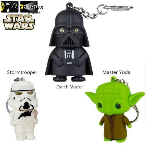 Llavero Led Y Sonido Star Wars Darth Stormtrooper Yoda