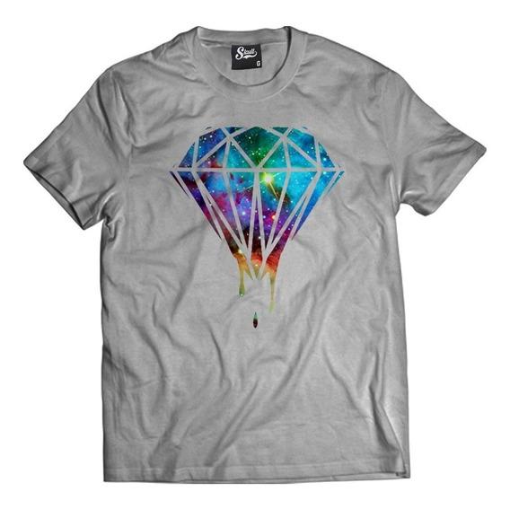 Camisa Blusa Diamante Galaxy Rap Hiphop Swag Skull Clothing