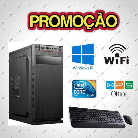 Cpu Montada Core 2 Duo 4gb Hd 320gb Windows 10 Usb! Frete