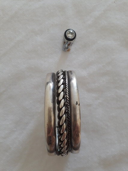 Bracelete Mais Pulseira E Anel De Aço Cirúrgico