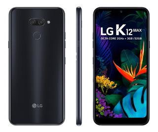 Smartphone Lg K12 Max 3gb/32gb Preto Tela 6,26 Lacrado + Nf
