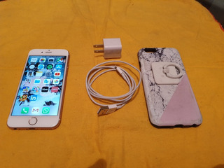 iPhone 6s 32gb - Rosa - Liberado - Cargador - Funda