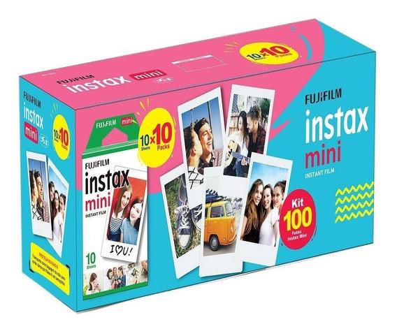 Kit Pacote Filme Instax Fujifilm 100 Filmes Fotos Coloridos