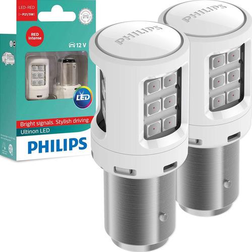 Imagem 1 de 7 de Kit Lâmpada Philips Led Ultinon P21/5 2 Polos Freio Lanterna