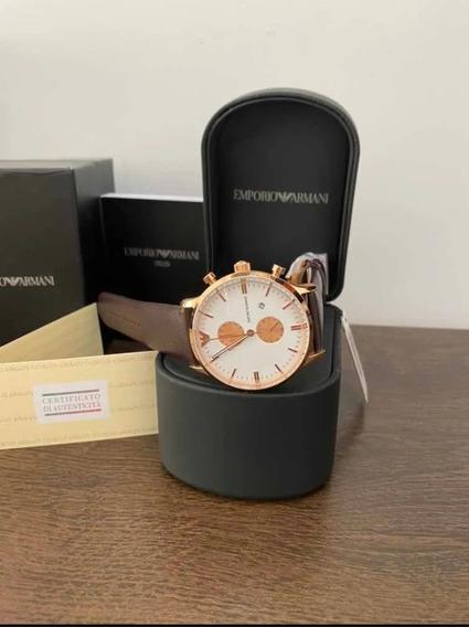 Relógio Armani 100% Original Ar0398 + Caixa + Documentos