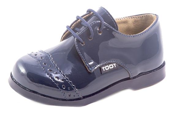Zapato Acordonado Toot Charol Cortejo Bautismo 21al 26 Milo