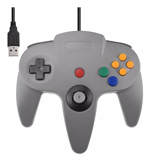 Manete Controle Nintendo 64 N64 Usb Joystick Pc Notebook