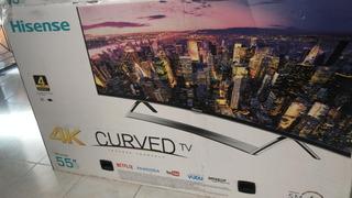 Tv Hisense 55 4k Smartv Curva Nueva
