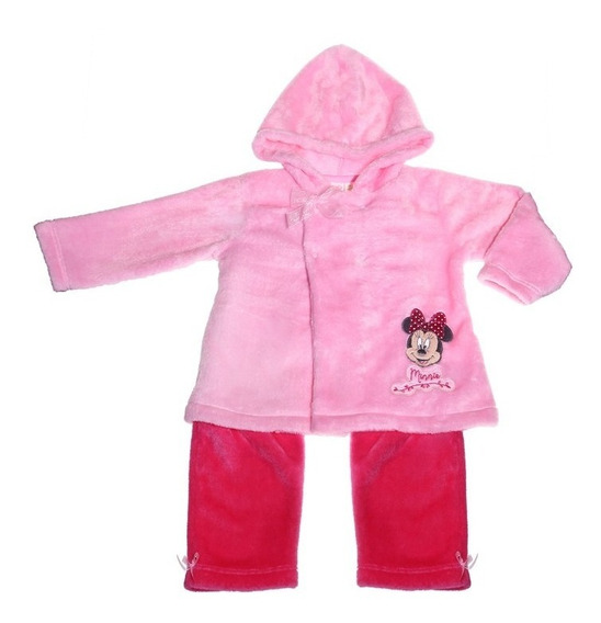 Pijama Bb Ideal Disney Pantalon Playera Flanel Minnie