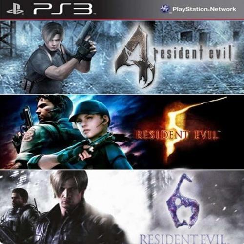 Combo Resident Evil 4, 5 E 6 Franchise Ps3 Psn Original