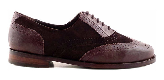 Abotinado Zapato Mujer Cuero Briganti Chatita - Mccha2806 Vg