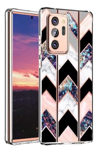 Baisrke Funda Galaxy Note 20 Ultra, Carcasa De Marmol Geo...