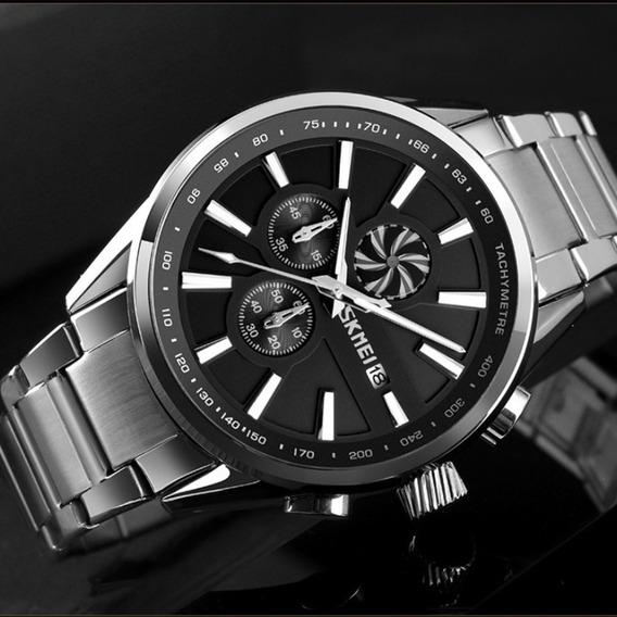 9175 Relógio De Quartzo Pulseira De Aço Inoxidável Relóg