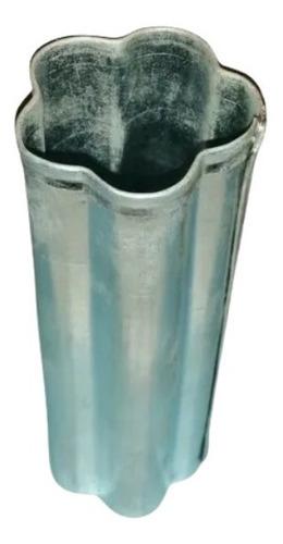 Molde Para Velas De Chapa Galvanizada Flor 4,5x4,5x13cm