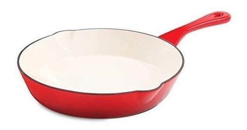 Crock Pot Artisan - Sartén Redonda De Hierro Fundido Esmalta