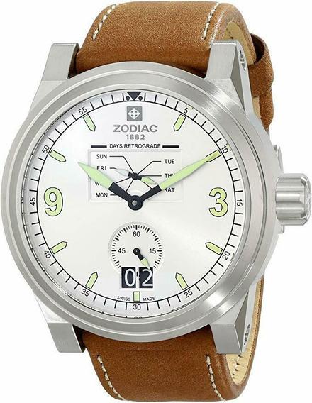 Relógio Masculino Zodiac Zo8564 Pulseira De Couro