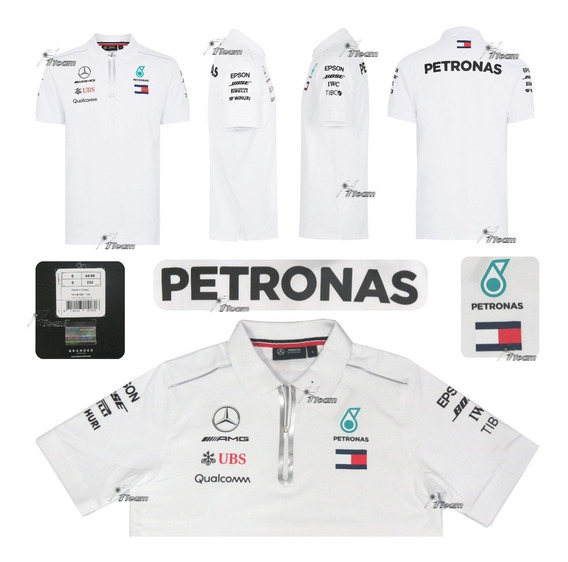 Polo Mercedes Hamilton Bottas F1 Amg Petronas Genuina 2018