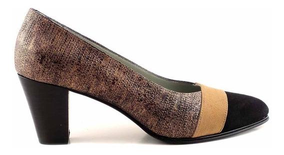 Zapato Cuero Mujer Briganti De Vestir Taco - Mccz03485 Gv