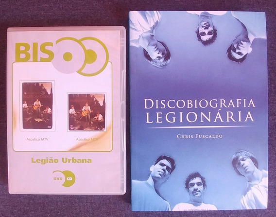 Legião Urbana Livro Discobiografia Cd + Dvd Bis Acustico Mtv