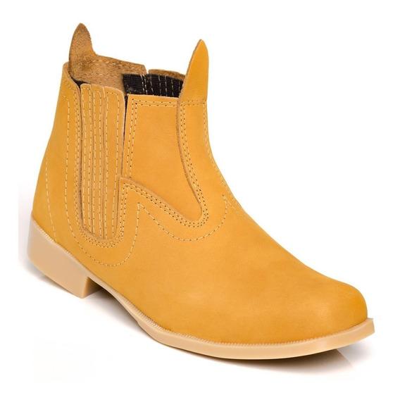 Bota Botina Country Masculina Em Couro Sapato Boot Coturno