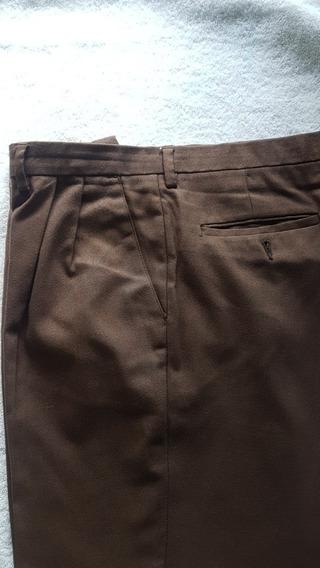 Pantalón De Vestir Hombre Color Marrón