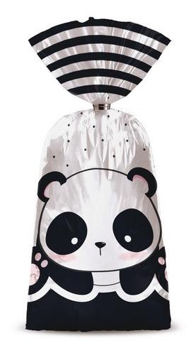 8 Sacolas Surpresa Panda 15x29cm Dec. Festas