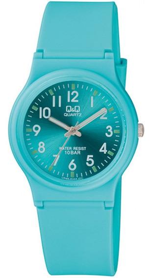 Relógio Infanti Azul Q&q Silicone Ponteiro Prova D