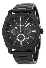 Reloj Fossil Fs4552 Quartz Hombre Negro Crono
