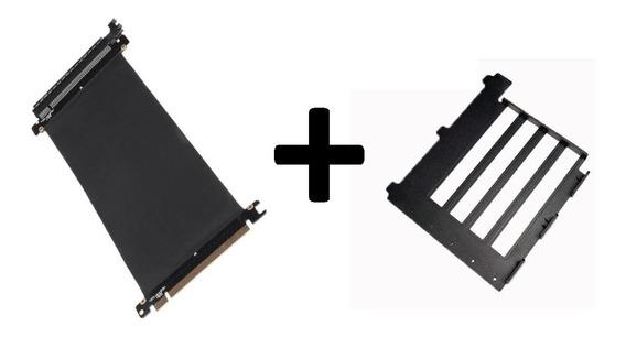 Combo Adaptador Para Placa De Video Vertical + Cabo Flex