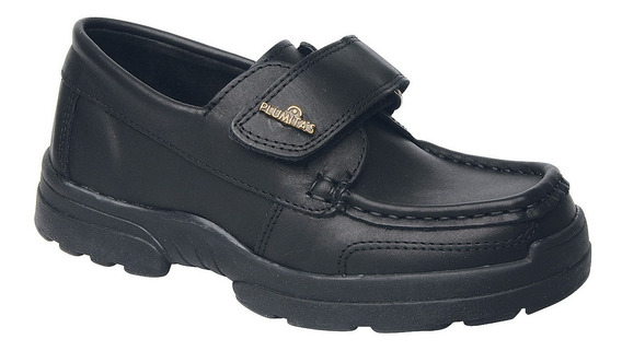Zapato De Cuero Negro Colegial Plumitas Para Niños