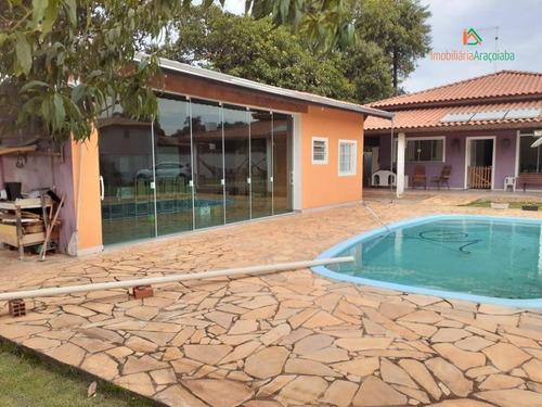 Chácara Com 3 Dormitórios À Venda, 1250 M² Por R$ 950.000,00 - Jardim Nossa Senhora Salete - Araçoiaba Da Serra/sp - Ch0229