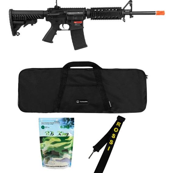 Rifle Airsoft M4a1 Kompetitor A.p.s Gbb + Acessórios