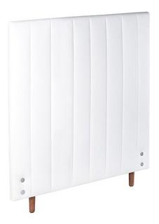 Cabeceira Estofada Para Cama Box Solteiro 92cm Branco Risk