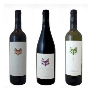 Vino Malbec Pinot Noir Zorro Y Arena X3 Vinos Finos Tintos
