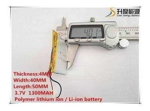 Bateria Gps Mp4 Mp5 1300 Mah 50mmx40mmx5mm 2 Fios