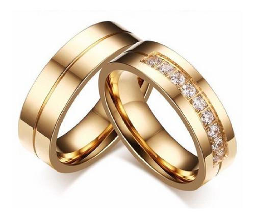 Imagen 1 de 4 de Anillos Boda Oro 18k Amor Matrimonio Plata Joyas Regalo