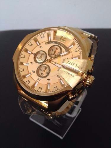 Relógio Diesel Dourado Original Caixa E Manual Aproveite