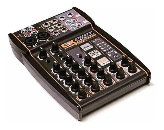 Mesa Expert Banda Mx2 Som Carro Expert Mx-2 P10 Rca Xlr Mic